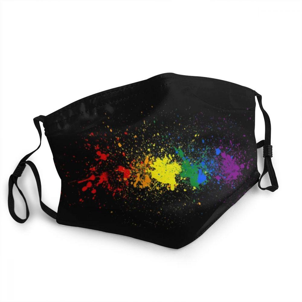 С изображением ЛГБТ-радуги моющиеся для взрослых для губ маска для лица для гей-прайда и лесбиянок ЛГБТ против дымки пыли Защитная крышка ре...