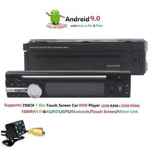 "Image 5 - 7""Universal 1din Android 9.0 QuadCore Car DVD player GPS Navigation 4GWifi BT autoRadio 2GB RAM 32GB ROM SWC RDS OBD2 DAB CD MAP"