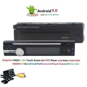 """Image 5 - 7 """"Đa Năng 1din Android 9.0 QuadCore DVD Xe Hơi GPS Dẫn Đường 4GWifi BT AutoRadio 2GB RAM 32GB ROM SWC RDS OBD2 DAB CD Bản Đồ"""