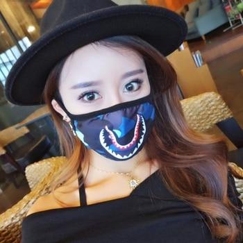 Shark Mouth Anti-Fog Flu Face Masks Unisex  Respirator Mouth-muffle Mask X5XC