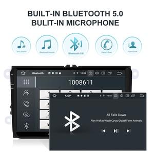 Isudar 2 Din Авто Радио Android 9 для VW/Golf/POLO/Passat/Skoda/Fabia/Octavia/Seat/Leon Автомобильный мультимедийный видео плеер gps USB DVR
