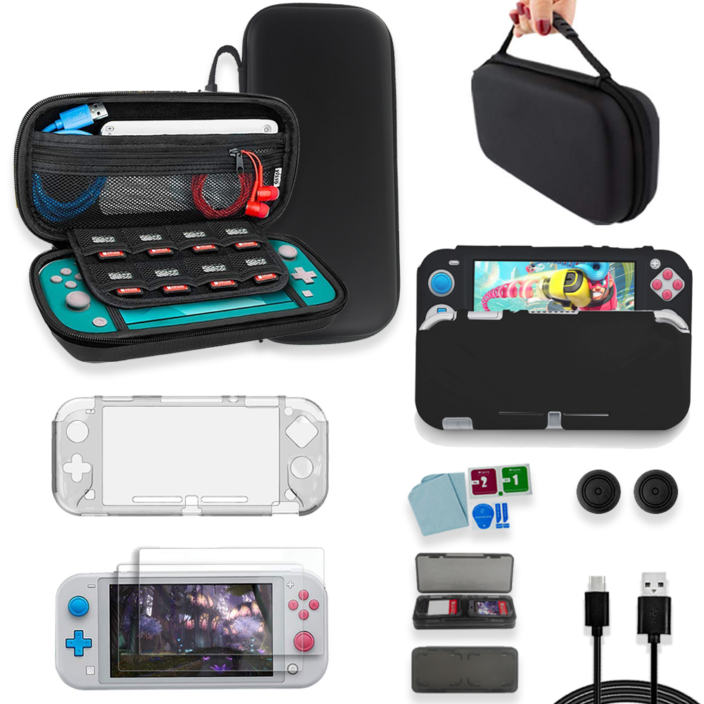 Game Accessories Set Travel Carrying Bag  Joycon Protective Cover Screen Protector Case Charging Cable For Nintendo Switch Lite