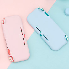 Liquid Silicone Case For Nintendo Switch Lite Color Pink Cover Shell NS Mini Shell Box For Nintendo Switch Lite Accessories