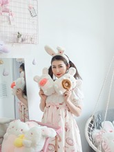 Cute rabbit ears with headband plush toys will stand up childrens gift children