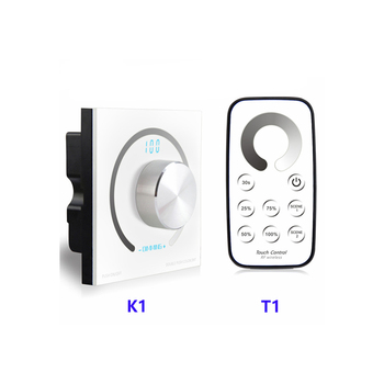 K1/T1 Brightness Rotary single color touch panel Dimmer T1 RF Remote Wireless Switch knob LED Controller for led stirp DC12-24V ac09 01j rotary switches band switch cnc panel knob switch