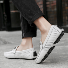 Summer Leather Men Moccasins Casual Shoes Luxury Brand 2020