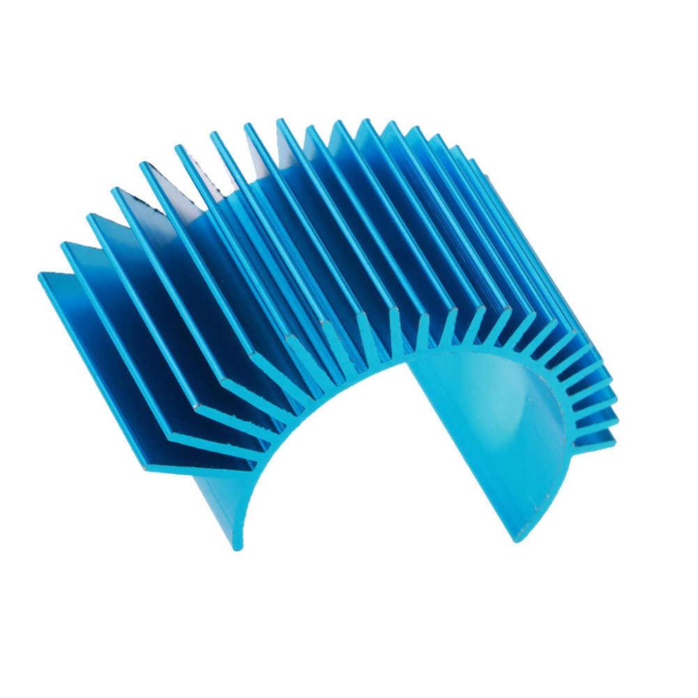 Yüksek kaliteli alüminyum RC araba motoru soğutucu soğutma Fin parça WLtoys A979-B A959-B 540 1:10 1:12 1:8 RC araba yedek parçaları
