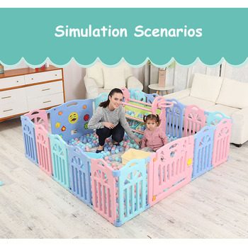 Indoor Baby Playpens Outdoor Games Fencing Riding Hall Children Play Fence Kids Activity Gear Environmental  Safety Play Yard kids play fence indoor baby playpens outdoor children activity gear environmental protection ep safety play yard