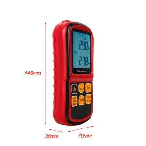 Image 3 - GM1312 ثنائي القناة مقياس الحرارة الرقمية المهنية ميزان الحرارة الرقمي قياس عالية الدقة مقياس الحرارة تستر