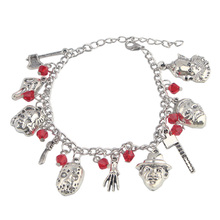 K896 1 Pcs Freddy Kruege Horror Movie Charm Bracelet Ghost Face Halloween Bracelets Jewelry Gifts