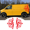 2 PCS Car Stickers For Bus T4 T5 T6 Compass left right side Auto Body Vinyl Decals Decal Sticker promo
