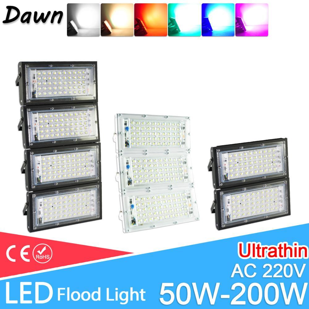 LED Flood Light 50W 100W 150W 200W Floodlight  AC 220V 240V LED Street Lamp Waterproof IP65 Outdoor Lighting Led Cob Spotlight