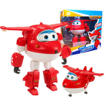 BIG!15cm ABS Super Wings Deformation Aircraft Robot Moving Doll Super Wings Children Deformation Toy anime action figure Gift