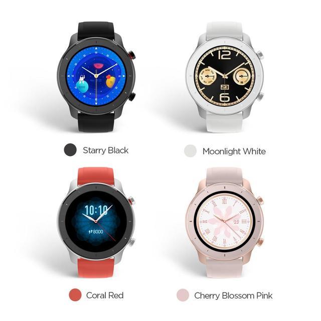Em estoque versão global novo amazfit gtr 42mm relógio inteligente 5atm relógios femininos 12 dias bateria controle de música para android ios 4