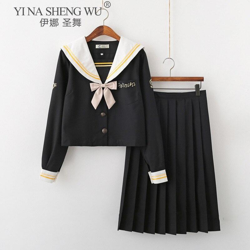 Sailor Dress Suit Girls Japan Korea Style Jk School Uniform Short&Long Sleeve Pleated Skirt Academy Anime Kawaii Cosplay Costume