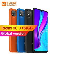 Versão global xiaomi redmi 9c 3gb 64gb smartphone 6.53 polegada 13mp triplo câmera 5000mah mtk helio g35 octa núcleo 4g celular