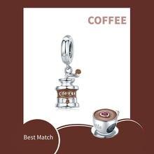 Кофе машина шарма 925 пробы серебро эмаль серьги бусины с прозрачными