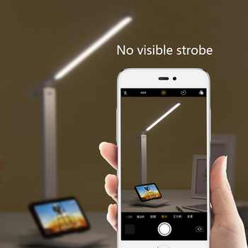9W Sensor Touch LED Table Lamp Touch Controll Brightness Adjustable USB Rechargeable Reading Eye-Protect Led Table Lamp Dropship