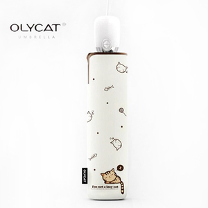 Image 2 - OLYCAT אוטומטי מטריית גשם נשים יפה חתול מתקפל מטריות Windproof שחור ציפוי אנטי UV שמשייה נשים של נערת מטרייה