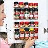 2/4 Pcs Kitchen Storage Rack Wall Mount Ingredient Spice Bottle Rack Plastic Clip Rack Cabinet Door Hooks Jar Spice Holder Tools