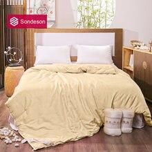 Женское жаккардовое стеганое одеяло sondeson желтое из 100%