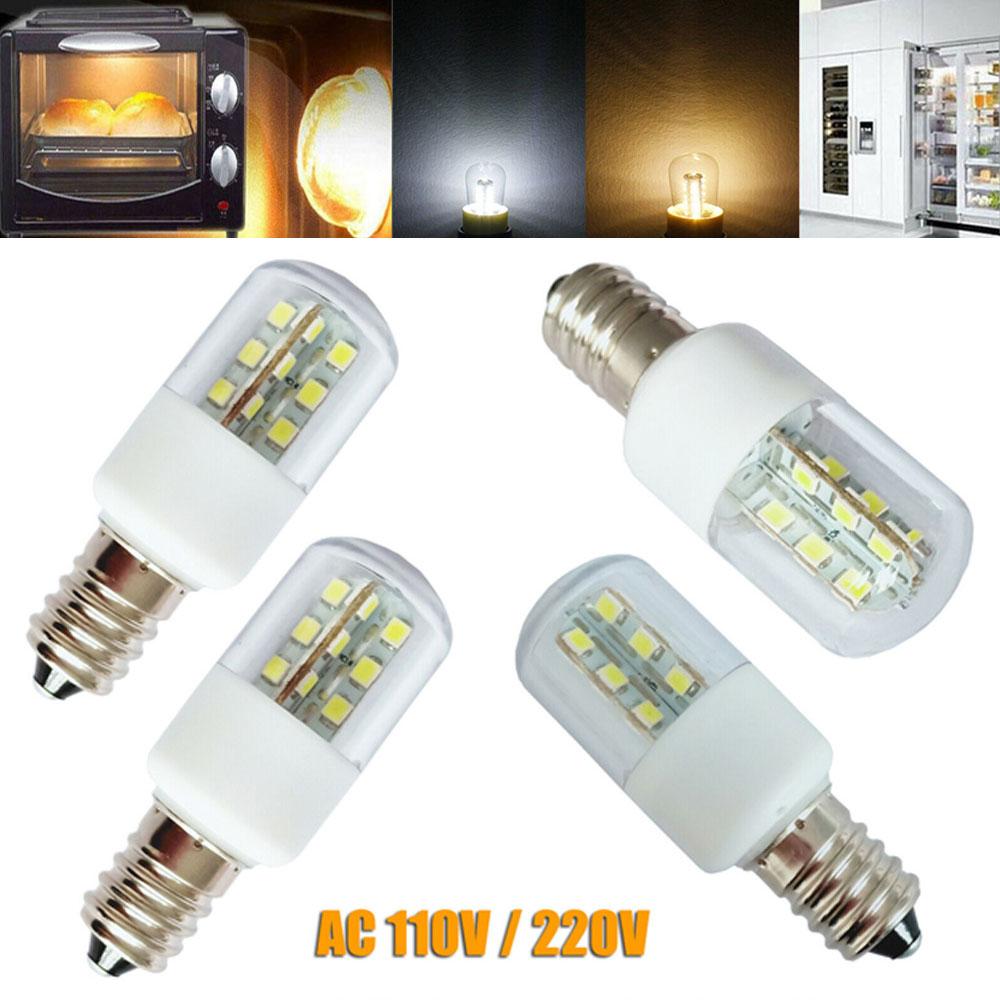 E14 E12 3W LED Microwave Crystal Lamp Light SMD 5050 Oven Light Bulb Freezer Cold Warm White AC 110V 220V Lamps For Home Lights