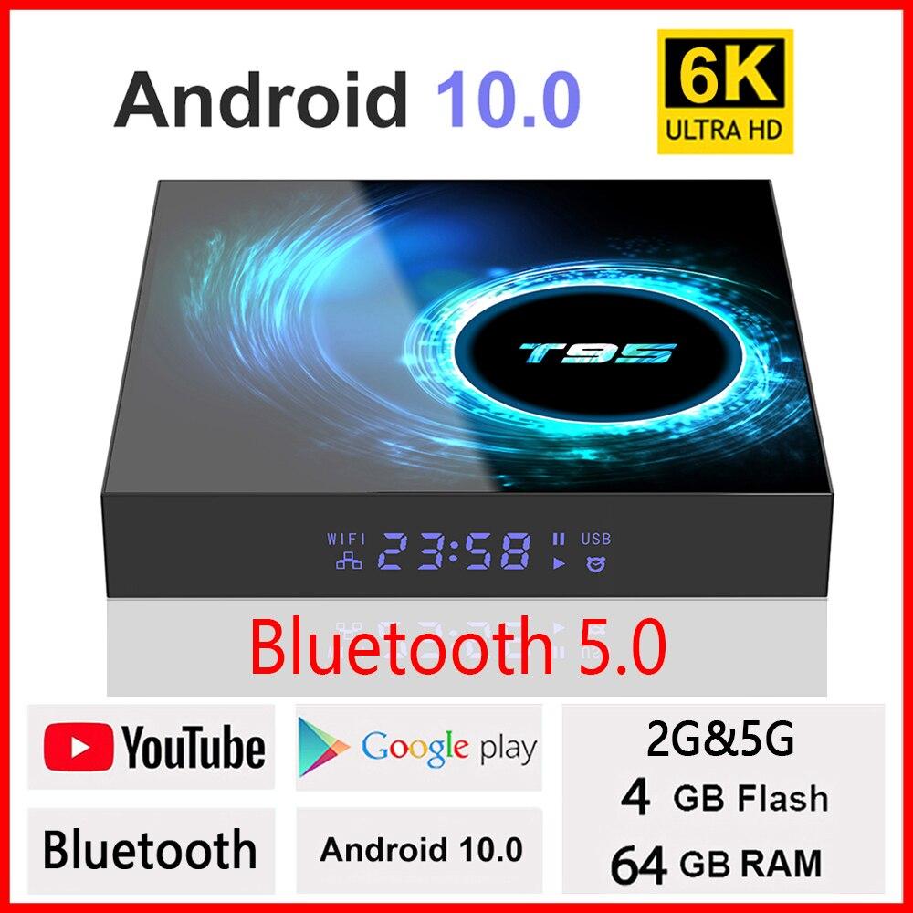 Melhor caixa de tv inteligente 2020 t95 plus hd 6k android 10.0 allwinner h6 4gb 64gb 32 wifi media player pk x96max mais txs9 android caixa