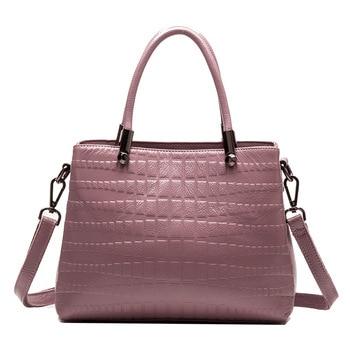 Europe and america 2019 new genuine leather women's bag women's handbag crocodile-leather shoulder crossbody bag