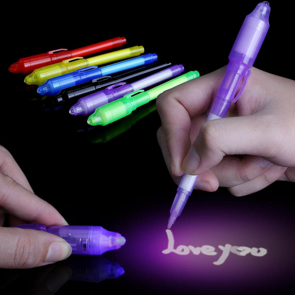 2019 Light-Up Toys Luminous Light Magic Pen Dark Funny Novelty Gag Popular Toys Magic Fidget Pen For Kids Adult Painting Brush E