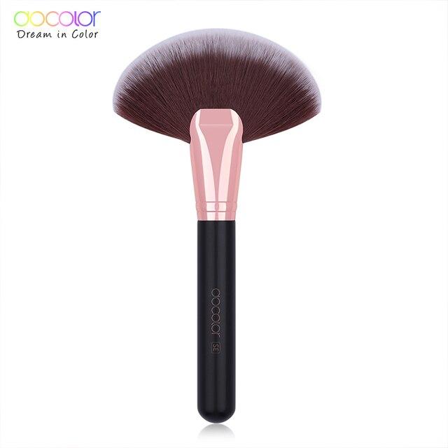 Docolor foundation brush flat top buffing Brushes Fan Contour Powder Brush highlighter makeup Brushes Pincel Maquiagem 3