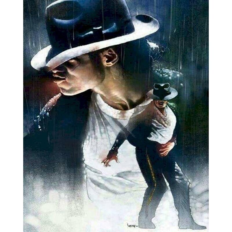 Peinture avec numéros de Michael Jackson, fait à la main, toile de haute qualité, belle peinture avec Personnages de Surprise, cadeau pour enfants