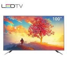 100 дюймов ТВ несколько языков Смарт Android lcd 4K wifi Интернет IP tv DVB-T2 led tv телевидение