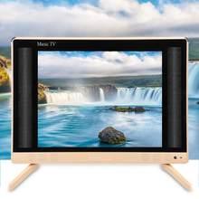 Televisão portátil da tevê do lcd da definição 22 Polegada alta mini com a qualidade 110-240 v esperta do som do baixo