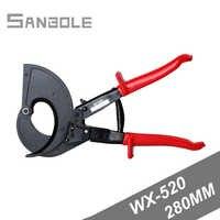 Ratsche Kabel Scher WX 520 Abisolieren Manuelle Bedienung Kabel Cut Licht Typ Rot Flache Edelstahl Für Wasserpumpe Zange