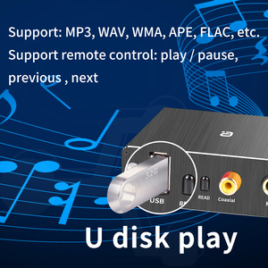Image 4 - Adaptador de descodificador DAC Bluetooth 5,0, receptor de Audio, reproductor de disco en U, adaptador de micrófono KTV Coaxial óptico a Convertidor analógico