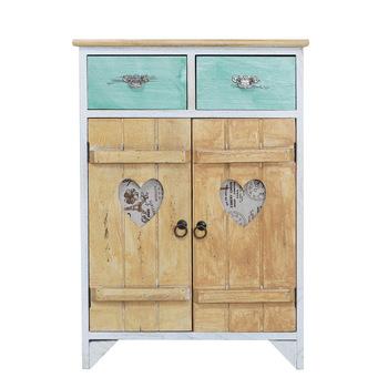 Proste z litego drewna komoda z szufladami łatwy montaż z wiejski styl meble proste stolik nocny słomy sypialnia szafka do przechowywania tanie i dobre opinie CN (pochodzenie) Amerykańskie country Szafka do pokoju dziennego meble do domu Antique 1 (włącznie)-5 (włącznie) 76x52x30