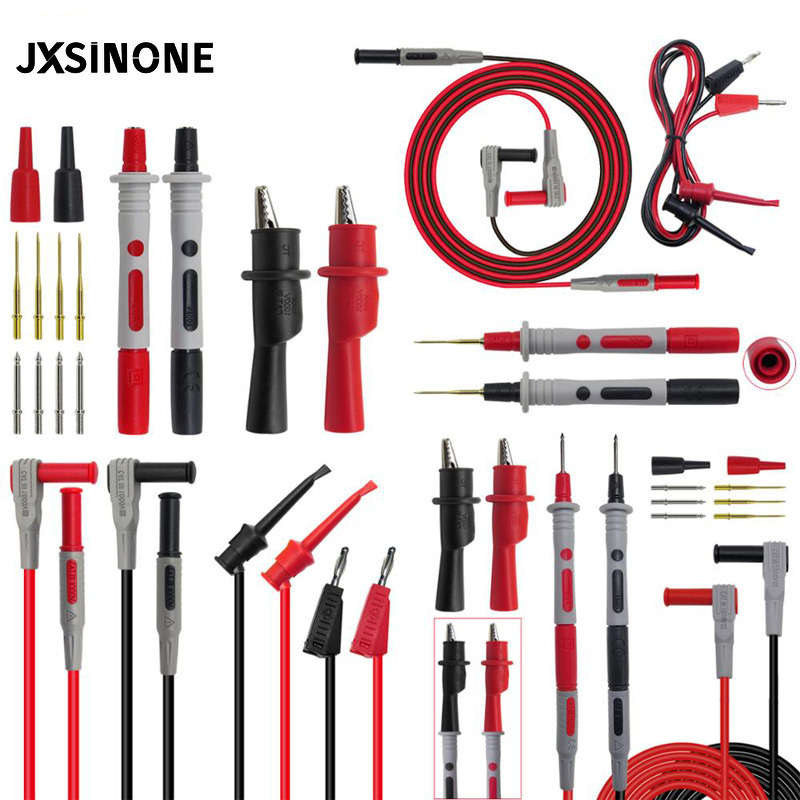 JXSINONE Multimeter Test Leads Kit Electronic Test Probe Accessory Alligator Clips Banana Plug to Test HooK Replaceable Probe