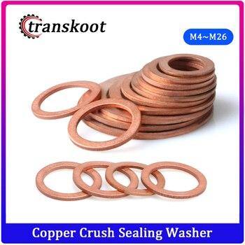 DIN7603 M4 M5 M6 M8 M10 M12 M13 M14 M16 M17 M18 M20 M22 M24 M26 Boat Red Brass Copper Crush Sealing Washer Flat Seal Gasket Ring