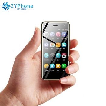 2019 Smallest Smartphone Ulcool U2 3.15Inch MTK6739 1GB 8GB telefone Android 8.1 Google Play 4G Cute leather Mini mobile phone