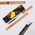 Espada samurái katana estilo japonés wakizashi hoja de acero doblada forjada a mano funda de madera de espiga maquinilla de afeitar corte de borde afilado