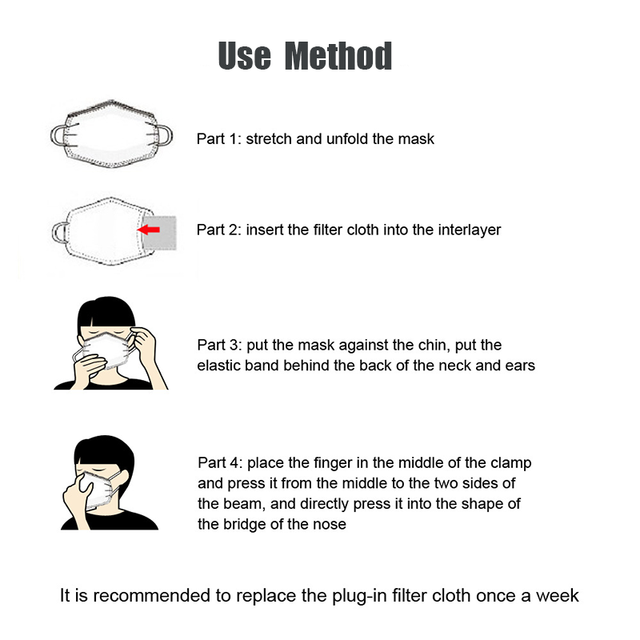 6PCS Anime Kids Children Mask Filter Cartoon Reusable Face Mouth Masks Cotton Washable Pink Black Cute Fabric Kawaii Mask 5