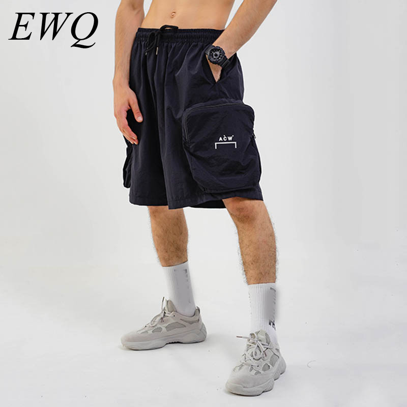EWQ / Men's Wear 2020 Spring And Summer New Letter Printing Men's Quick-drying Shorts Casual Pants All-match With Pockets 9Y1007