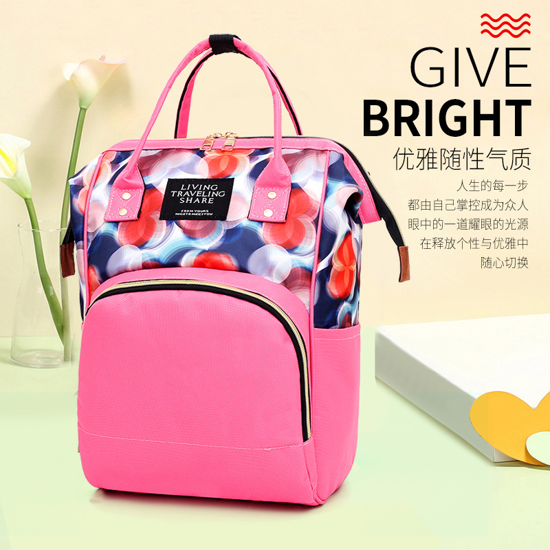 Diaper Bag 2019 Winter Large-Volume MOTHER'S Bag Upgrade Waterproof Fashion Mom And Baby Backpack Multi-functional Nursing Diape