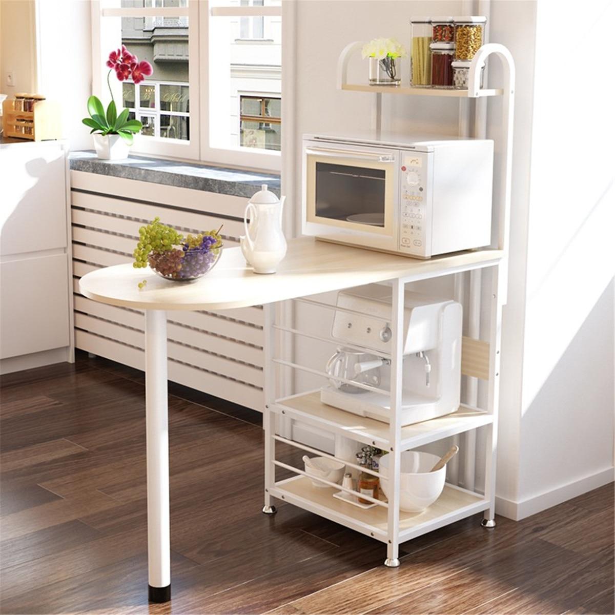 Kitchen Multi Layers Wooden Bar Table Organizer Cocktail Microwave Storage Rack Shelf Stand 110x50x127cm Home Bar Furniture Aliexpress