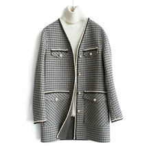 New Wool Women High Quality Slim Elegant Single Breasted Woolen Coat Womens Korean Casual Coats Autumn Winter Fashion(China)