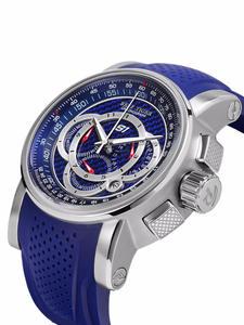 Риф Тигр/RT мужские спортивные часы хронограф Дата 316L сталь большой синий циферблат резиновый ремешок кварцевые часы водонепроницаемые Relogio...