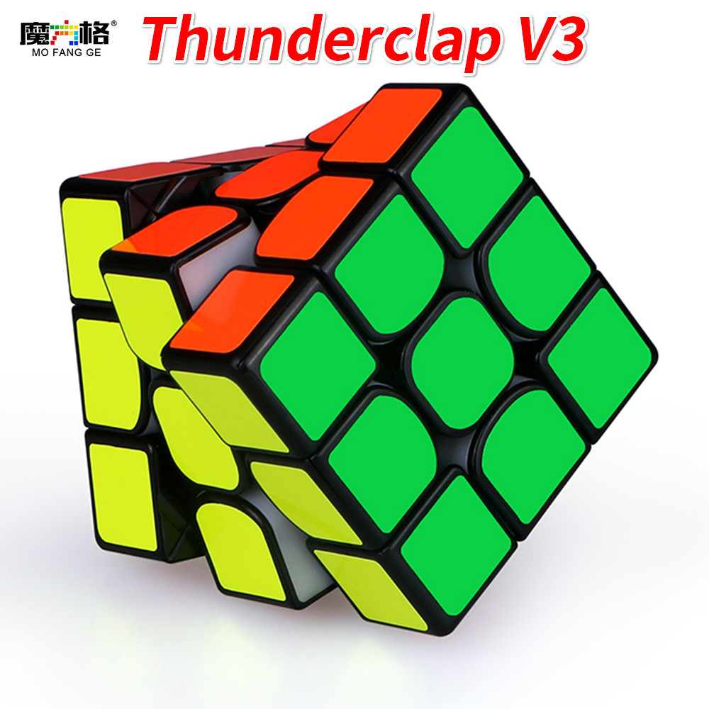 Newest QiYi MoFangGe Thunderclap V3 3x3x3 Magic Cube Regular Or Magnetic Puzzles Cube Professional 3x3 Speed Magico Cubo