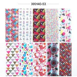 Image 4 - 10pcs Colorful Nail Foil Set Adhesive Decals Wraps Stickers Nail Art Transfer Foils Decorations Manicure Sliders TRXKH40 53 55