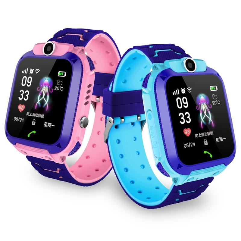 Kids Smart Watch IPX7 Waterproof Smart Watch Touch Screen SOS Phone Call Device Location Tracker Anti-Lost Children Watch