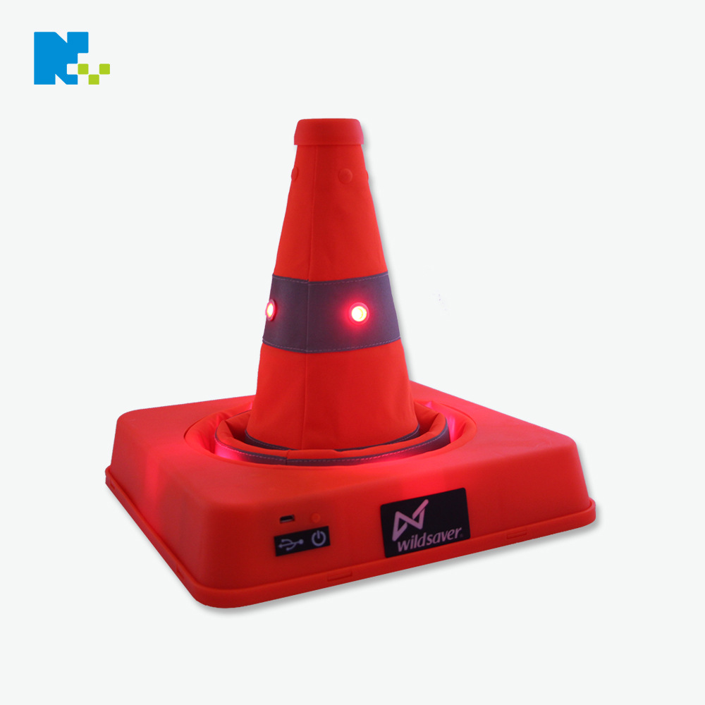 41 Cm Shining Charging Traffic Cone LED Safe Traffic Cone Car Folding Barricades Traffic Cone Retractable Ice Cream